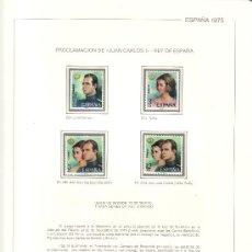 Sellos: ..ESPAÑA AÑOS 1975 MONARQUIA AL 1979 NUEVO SIN CHARNELA EN HOJAS CULTURAL FM. Lote 25446787