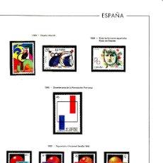 Sellos: ESPAÑA AÑOS 1989 AL 1992 NUEVO SIN CHARNELA EN HOJAS EDIFIL. Lote 27165744
