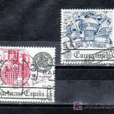 Sellos: ESPAÑA 2657/8 USADA, TEMA EUROPA, CEPT, DESCUBRIMIENTO DE AMERICA,. Lote 218139018