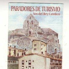 Sellos: SELLO Y DÍPTICO DE LA SERIE PARADORES DE TURISMO - SOS DEL REY CATÓLICO (EMITIDO EL 7 DE ABRIL 2000). Lote 14361072