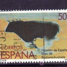 Sellos: ESPAÑA 2953 USADA, EXPOSICION MUNDIAL 1988, BRISBANE (AUSTRALIA). Lote 289442633