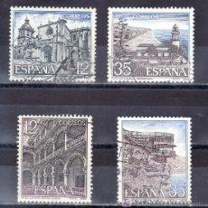 Sellos: ESPAÑA 2835/8 USADA, PAISAJES Y MONUMENTOS, GUADALAJARA, CIUDAD RODRIGO, NERJA, CALELLA. Lote 182855091