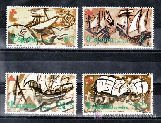 ESPAÑA 3079/82 USADA, V CENTENARIO DEL DESCUBRIMIENTO DE AMERICA, (Sellos - España - Juan Carlos I - Desde 1.975 a 1.985 - Usados)