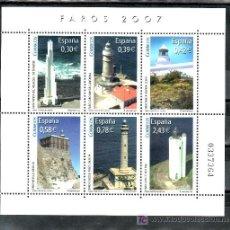 Sellos: ESPAÑA 4348 SIN CHARNELA, FAROS PUNTA HIDALGO, CABO MAYOR, PUNTA ALMINA, MELILLA, CABO PALOS, GORLIZ. Lote 29646938