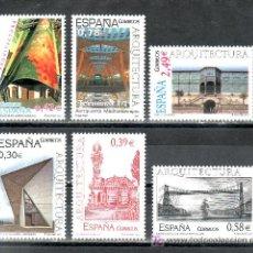 Sellos: ESPAÑA 4323/8 SIN CHARNELA, ARQUITECTURA, ALMENDRALEJOS, COMILLAS, BARCELONA, PORTUGALETE, BARAJAS,. Lote 15655552