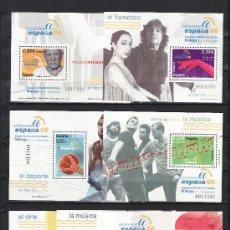 Sellos: ESPAÑA 4268/74 MISMO Nº SIN CHARNELA, ESPAÑA 06, MODA, CINE, MUSICA, FLAMENCO, DEPORTE, PICASSO,. Lote 20475078