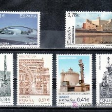 Sellos: ESPAÑA 4243/8 SIN CHARNELA, ARQUITECTURA, BARCELONA, TARRASA, ALBACETE, BILBAO, LAS PALMAS, CACERES. Lote 15638800