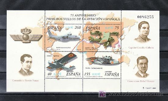 ESPAÑA 3790 SIN CHARNELA, HISTORIA AVIACION. 75º ANIV. DE PRIMEROS VUELOS DE LA AVIACION ESPAÑOLA, (Sellos - España - Juan Carlos I - Desde 1.975 a 1.985 - Usados)