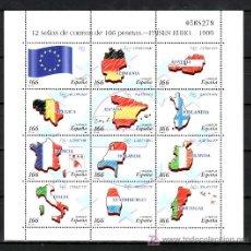 Sellos: ESPAÑA 3632/43 O MINIPLIEGO 63 SIN CHARNELA, PAISES DEL EURO, . Lote 23953152