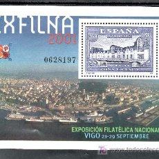 Sellos: ESPAÑA 3816 SIN CHARNELA, EXPOSICION FILATELICA NACIONAL EXFILNA 2001, VIGO. Lote 14488747