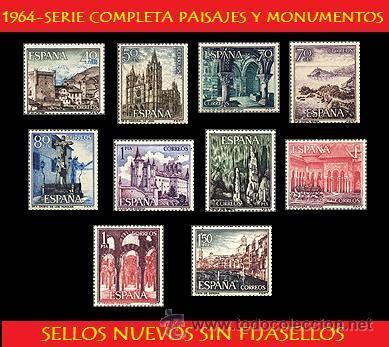 LOTE SERIE COMPLETA 1964 PAISAJES Y MONUMENTOS (UNIFICO ENVIOS AHORRA GASTOS COMPRANDO MAS SELLOS) (Sellos - España - Juan Carlos I - Desde 1.975 a 1.985 - Usados)