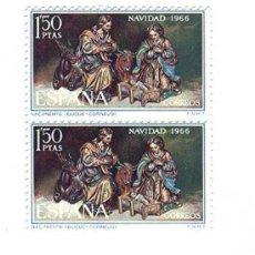 Sellos: NAVIDAD 1966-BLOQUE DE 2- EDIFIL 1764. Lote 16464817