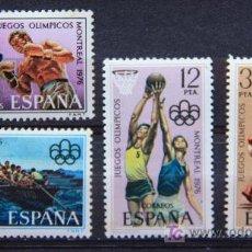 Sellos: ESPAÑA EDIFIL 2340-43 JUEGOS OLÍMPICOS MONTREAL 1976 SERIE COMPLETA ES-78. Lote 17956248
