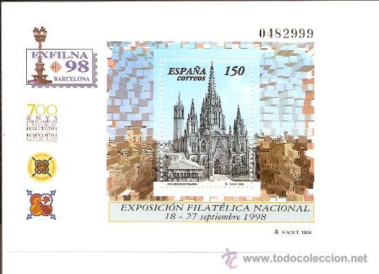 HOJITA EXFILNA´98 (Sellos - España - Juan Carlos I - Desde 1.986 a 1.999 - Nuevos)