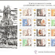 Sellos: MINIPLIEGO 150 ANIVERSARIO DEL PRIMER SELLO ESPAÑOL 2000. Lote 32898768