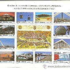 Sellos: MINIPLIEGO EXPOSICION UNIVERSAL DE SEVILLA EXPO´92 . Lote 17977209