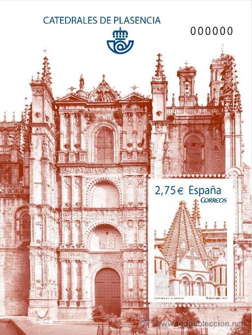 ESPAÑA 2010 - CATEDRAL DE PLASENCIA - HOJITA BLOQUE - EDIFIL Nº 4552 (Sellos - España - Juan Carlos I - Desde 2.000 - Usados)