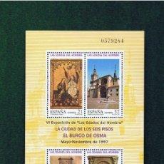 Sellos: HOJITA LAS EDADES DEL HOMBRE 97 ED. 3494 NUEVO. Lote 18526507