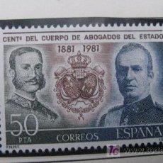 Sellos: 1981 CENT. CUERPO ABOGADOS DEL ESTADO. EDIFIL 2624. Lote 18787837