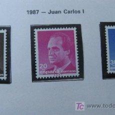 Sellos: 1987 JUAN CARLOS I. EDIFIL 2877/9. Lote 19407616