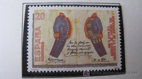 1989 I CENT. CREACION CUERPO DE CORREOS. EDIFIL 2998 (Sellos - España - Juan Carlos I - Desde 1.986 a 1.999 - Nuevos)