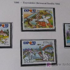 Sellos: 1990 EXPOSICION UNIVERSAL DE SEVILLA EXPO92. EDIFIL 3050/3. Lote 19792415