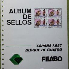 Sellos: ESPAÑA AÑO 1987 COMPLETO EN BLOQUE DE 4 ..... EDIFIL 2874 - 2926. Lote 26330375