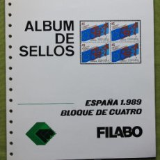 Sellos: ESPAÑA AÑO 1989 COMPLETO EN BLOQUE DE 4 ..... EDIFIL 2986 - 3046. Lote 26330377