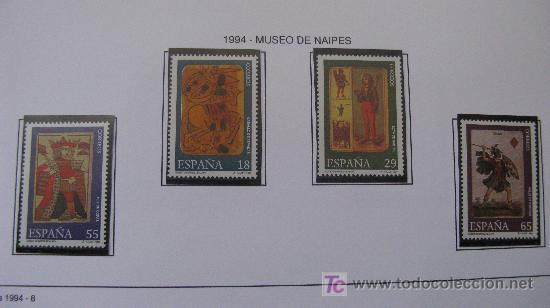 1994 MUSEO DE NAIPES. EDIFIL 3317/20 (Sellos - España - Juan Carlos I - Desde 1.986 a 1.999 - Nuevos)