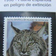 Sellos: 1998 FAUNA ESPAÑOLA EN PELIGRO DE EXTINCION. LINCE IBERICO. EDIFIL 3529. Lote 20472865