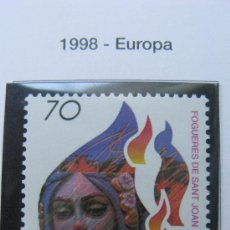 Sellos: 1998 EUROPA. FOGUERES DE SANT JOAN. EDIFIL 3542. Lote 20473013