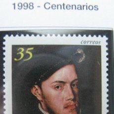 Sellos: 1998 IV CENT. MUERTE DE FELIPE II. EDIFIL 3548. Lote 20473071