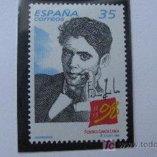 Sellos: 1998 CENTENARIO FEDERICO GARCIA LORCA. EDIFIL 3549. Lote 20473114