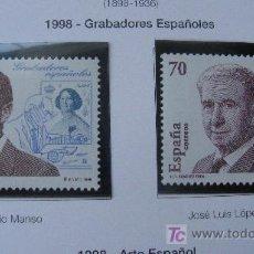 Sellos: 1998 GRABADORES ESPAÑOLES. EDIFIL 3550/1. Lote 20473139