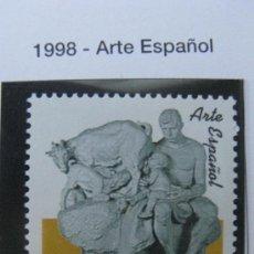 Sellos: 1998 ARTE ESPAÑOL.GRUPO ESCULTORICO HERMANOS DE LECHE. EDIFIL 3553. Lote 20473185