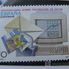 Sellos: 1998 XX CONFERENCIA SOBRE PROTECCION DE DATOS. EDIFIL 3555. Lote 20473222