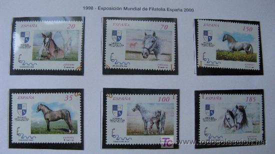 1998 EXPOSICION MUNDIAL DE FILATELIA ESPAÑA 2000. SELLOS EDIFIL 3608/13 (Sellos - España - Juan Carlos I - Desde 1.986 a 1.999 - Nuevos)