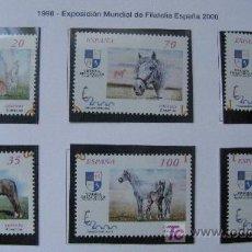 Sellos: 1998 EXPOSICION MUNDIAL DE FILATELIA ESPAÑA 2000. SELLOS EDIFIL 3608/13. Lote 26985294