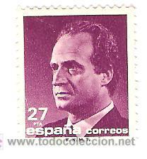 SELLO 27 PESETAS 1990 SERIE BASICA JUAN CARLOS I NUEVO (Sellos - España - Juan Carlos I - Desde 1.986 a 1.999 - Nuevos)