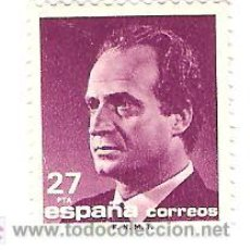 Sellos: SELLO 27 PESETAS 1990 SERIE BASICA JUAN CARLOS I NUEVO. Lote 21169294
