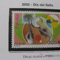 Sellos: 2002 DIA DEL SELLO. EDIFIL 3888. Lote 21364395