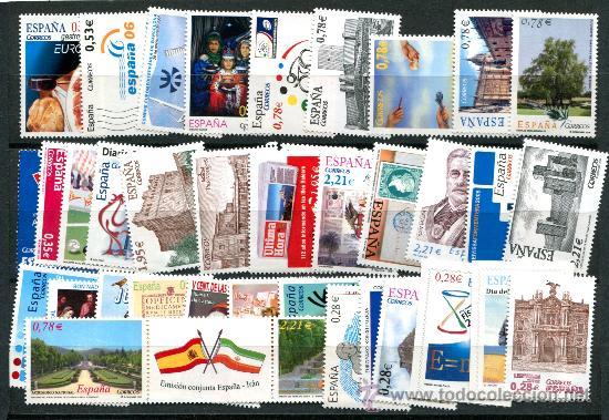 SERIES COMPLETAS AÑO 2005, DIFERENTES. FACIAL 55 EUROS. NUEVOS SIN FIJASELLOS. (Sellos - España - Juan Carlos I - Desde 2.000 - Nuevos)