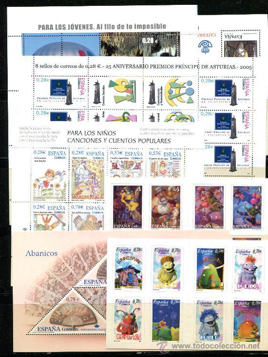 Sellos: Series completas año 2005, diferentes. Facial 55 euros. Nuevos sin fijasellos. - Foto 2 - 25866945