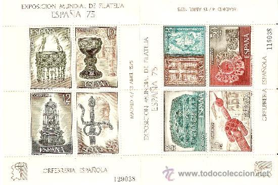 HOJAS BLOQUE CONMEMORATIVA EDIFIL Nº 2252 Y 2253 (Sellos - España - Juan Carlos I - Desde 1.975 a 1.985 - Nuevos)