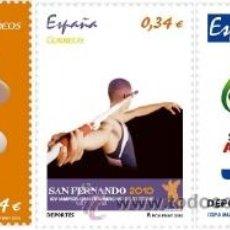 Timbres: ESPAÑA 2010 - DEPORTES - 3 SELLOS - EDIFIL Nº 4569-4571. Lote 195766605