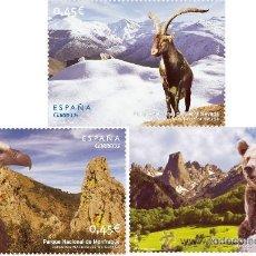 Sellos: ESPAÑA 2010 - PARQUES NATURALES 2ª SERIE - 3 SELLOS -EDIFIL Nº 4581-4583. Lote 207057802