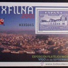 Sellos: HOJA BLOQUE ESPAÑA EDIFIL 3816*** - AÑO 2001 - EXPOSICION FILATELICA NACIONAL EXFILNA 2001 - VIGO. Lote 26955473