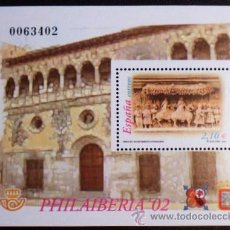 Sellos: HOJA BLOQUE DE ESPAÑA 2002 3881 PHILAIBERIA '02 TARAZONA. Lote 26847840