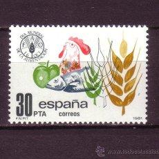 Sellos: ESPAÑA EDIFIL 2629*** - AÑO 1981 - DIA MUNDIAL DE LA ALIMENTACION. Lote 23615756