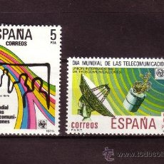 Sellos: ESPAÑA EDIFIL 2522/23*** - AÑO 1979 - DIA MUNDIAL DE LAS TELECOMUNICACIONES. Lote 24128851